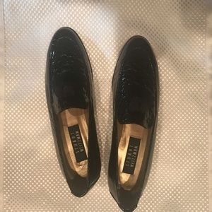 Stuart Weitzman navy patent loafers